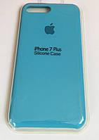 Силиконовый чехол на iPhone 7 Plus/8 Plus Голубой. Silicon case Apple iphone 7+/8+ Blue.