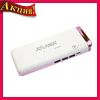 Портативн.зарядн.устр. Power Bank 3xUSB с фонариком 12000mA AT-2032 Elite!Акция