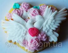 Силіконова форма для мила і свічок Закохані голуби