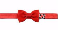Детская красная повязка мини-бантик на голову для девочки от рождения до 99 лет