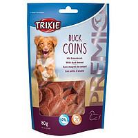 Trixie TX-31587 Premio Duck Coins 80 гр - лакомство с  уткой  для собак