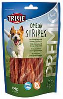 Trixie TX-31536 Premio Omega Stripes 100г - лакомство с куриной грудкой для собак