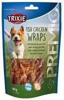 Trixie TX-31590 Premio Fish Chicken Wraps  80 гр - лакомство с курицей и рыбой для собак