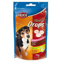 Лакомство для собак Trixie TX-31641Vitamin Drops with Yoghurt 75г дропсы для собак с йогуртом, фото 2