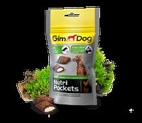 GimDog Nutri Pockets Shiny 45г-витамининизированные подушечки для блеска шерсти у собак  (G-509624)
