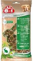 Лакомство для собак 8в1 Minis кролик и травы, с просом, 100 г (122760)