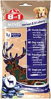 Лакомство для собак 8в1 Minis оленина,черника  100 г (125327), фото 2