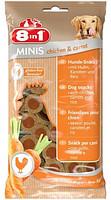 Лакомство для собак 8в1 Minis курица и морковь, с рисом, 100 г (122722)