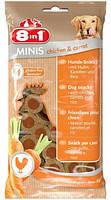 Лакомство для собак 8в1 Minis курица и морковь, с рисом, 100 г (122722), фото 2