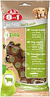 Лакомство для собак 8в1 Minis говядина и яблоко, с картофелем, 100 г (122784)