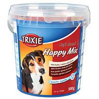 Trixie TX-31495 Soft Snack Happy Mix 500гр -смесь лакомств для собак  (ягнёнок, лосось, курица), фото 2