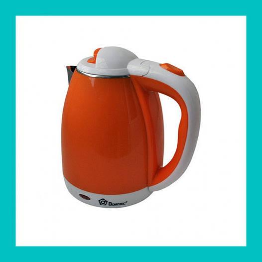 Электрочайник DOMOTEC MS-5022O оранжевый!Акция