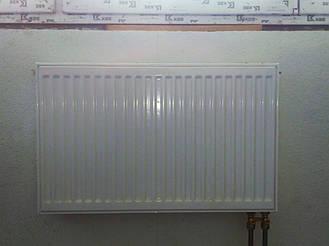 Установка радиатора с нижним подключением