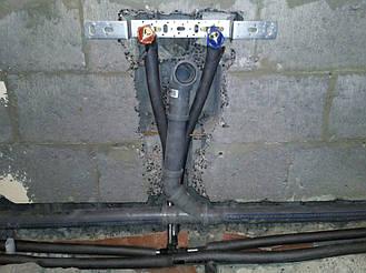 Установка и подключение выводов ХВ/ГВ под умывальник с отводм в канализацию