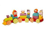 Поезд деревянный Сокровища гномов LP-4, игрушки из дерева