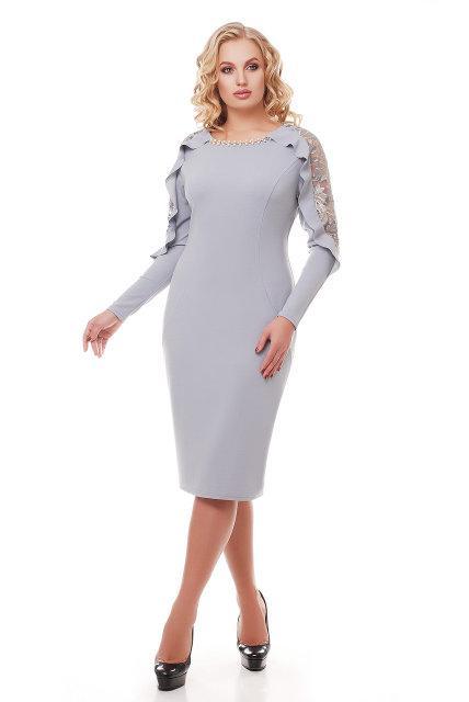 Вечернее платье миди с 52 по 58 размер  2цвета