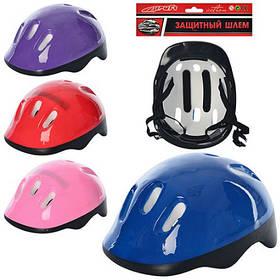 Защитный шлем MS 0014-1 размер средний, однотонный