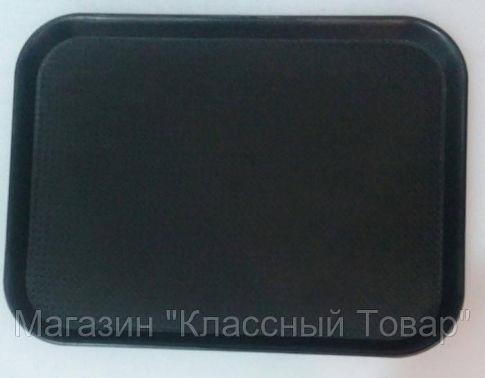 """Поднос""""Антислип""""прямоугольный черный 400*300*20 мм (шт) - Магазин """"Классный Товар"""" в Херсоне"""