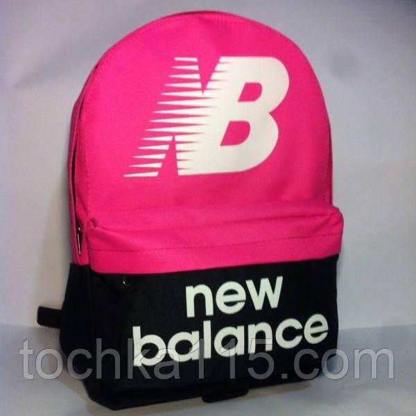 Спортивный рюкзак New Balance черный/розовый не оригинал