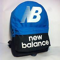 Спортивный рюкзак New Balance черный/голубой не оригинал