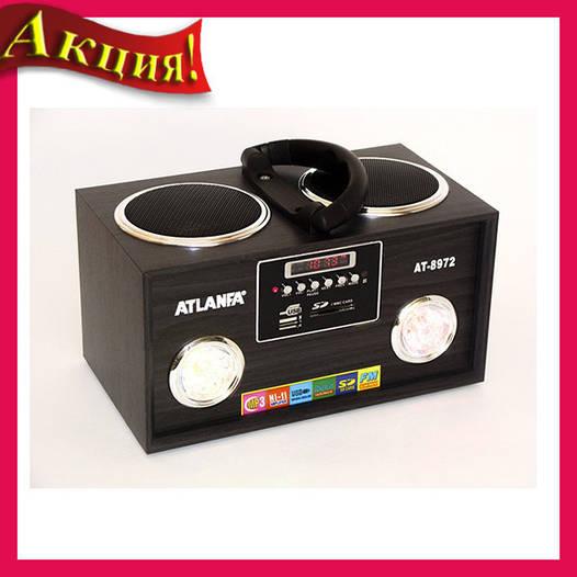 Колонка от сети с USB, SD, FM-прием., дисплеем и 2-динамиками AT-8972!Акция