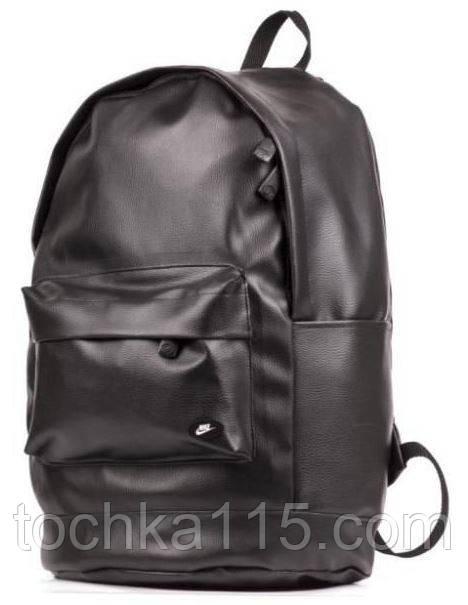 Рюкзак кожаный мужской коричневый городской Nike не оригинал