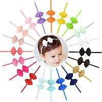 Детская повязка тройной бантик на голову для новорожденной девочки и до 99 лет