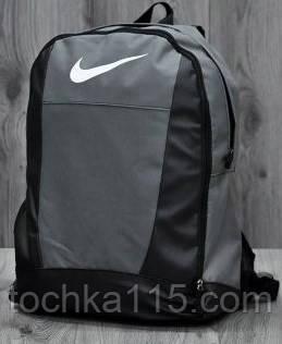 Молодежный рюкзак найк серый, рюкзак Nike не оригинал