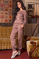 Костюм женский вязанный Милена (пыльная роза), фото 1
