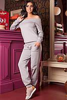 Костюм женский вязанный Милена (светло-серый), фото 1