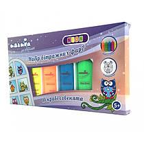 """Детский подарочный набор для рисования Витражные Краски Неон """"Яркие Совы"""", Neon Идейка, 98509"""