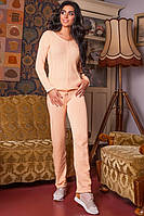 Костюм женский вязанный Регина (персик), фото 1