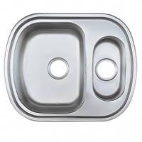 Врезная кухонная мойка Platinum 63*49*18 Satin 0.8 , фото 1
