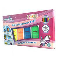 """Детский подарочный набор для рисования Витражные Краски Неон """"Сладости"""", Neon Идейка, 98507"""