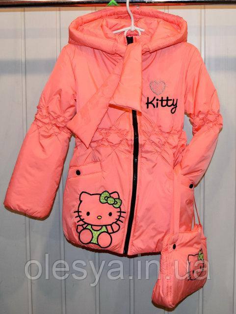 Куртка демисезонная для девочки Kitty, Размеры 28, 32