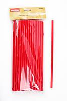 Трубочка красная с изгибом L 280 мм (уп 50 шт)