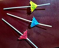 Трубочка полосатая с зонтиком L 240 мм (уп 50 шт)