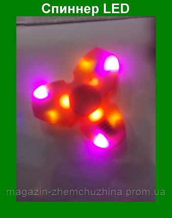 Яркий светящийся спиннер,антистрессовая игрушка Fidget Spinner, фото 2