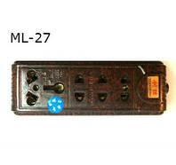 Колодка 4 гнезда без земли ML-27