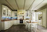 Классическая бордовая кухня из натурального дерева VERONA фабрики Torchetti (Италия), фото 9