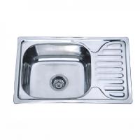 Врезная кухонная мойка Platinum 66*42*18 Satin 0.8 , фото 1