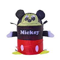 Корзина для игрушек Микки, в сумке со змейкой 40см