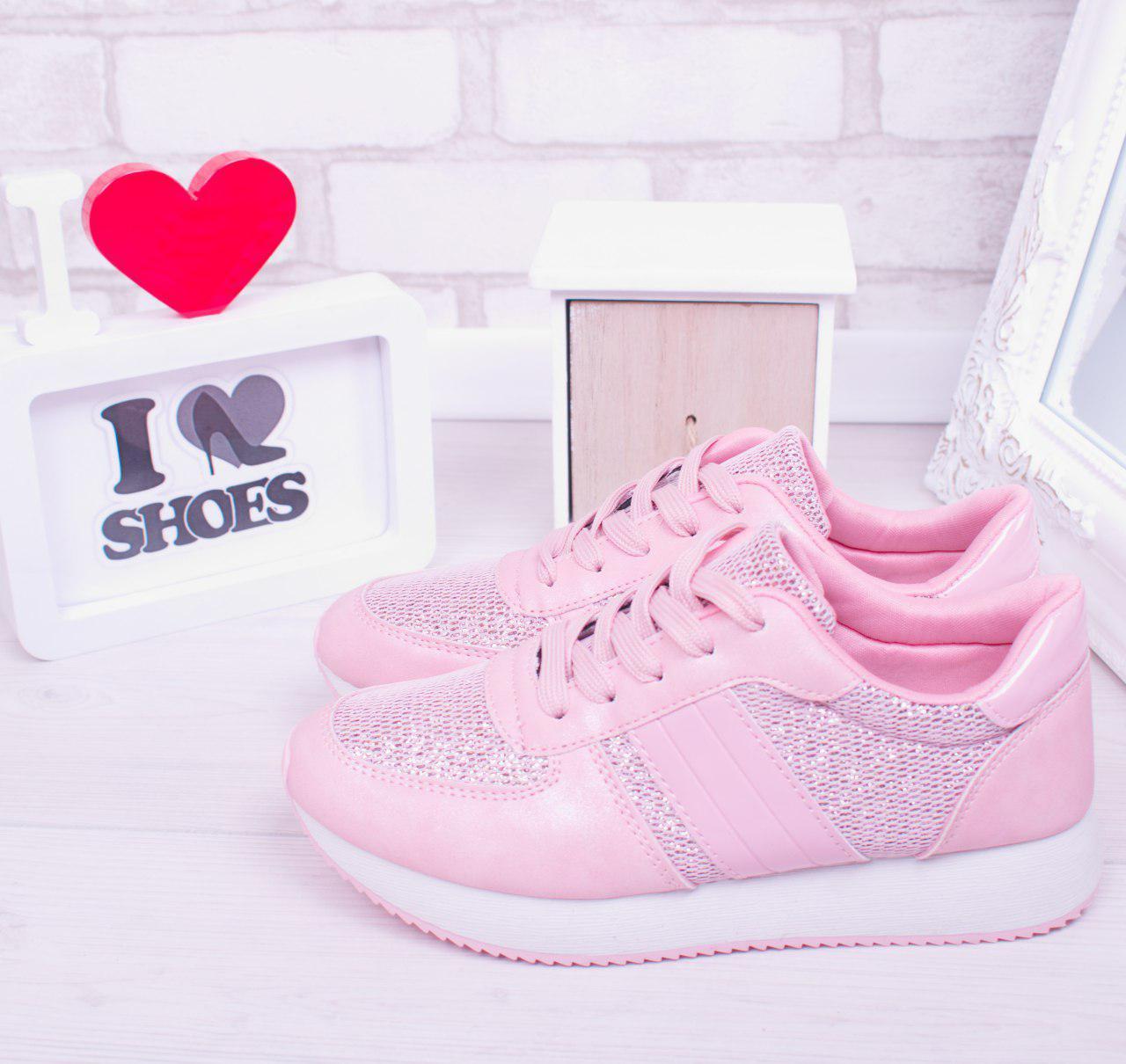 """Кроссовки, кеды, мокасины женские розовые """"Lush"""", спортивная обувь"""