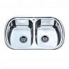 Врезная кухонная мойка Platinum 77*49*18 Satin 0.8 Двойная