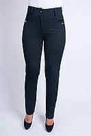 Женские брюки с вставками по бокам чёрного цвета, фото 1