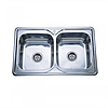Врезная кухонная мойка Platinum 78*48*18 Satin 0.8 Двойная