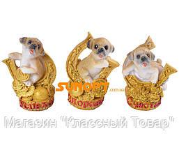 Статуэтка Собака денежная на подкове (Керамика) №628