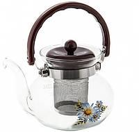 Чайник стекло огнеупор Ø=13.5см V= 900 мл(шт)
