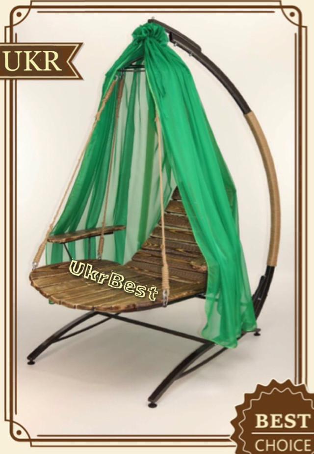 Садовые качели люкс класса: раскладывающееся подвесное кресло Ego из дерева и металла - компания Ukrbest
