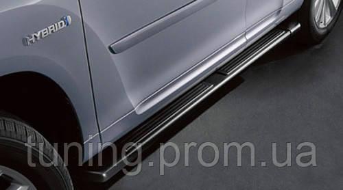 Подножки боковые плоские Toyota Highlander 2010-on
